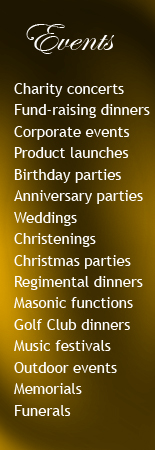 Events catered for